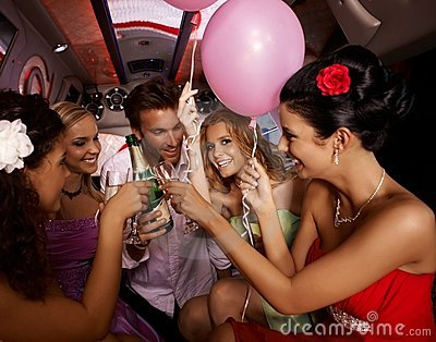 Party fun with champagne