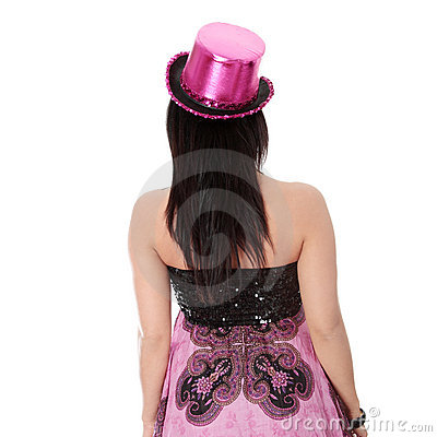 Party girl in evening dress