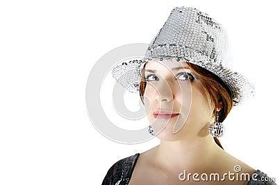 Party girl portrait