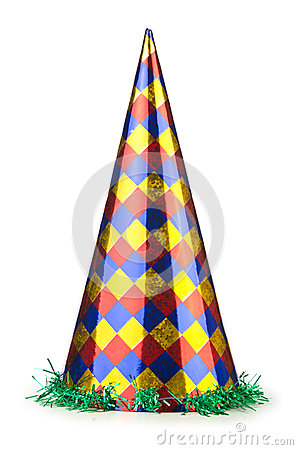 Party hat isolated on white