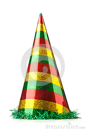 Party hat on white