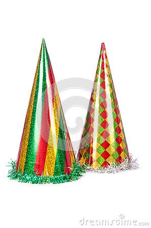 Party hats isolated