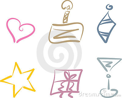 Party and holiday clipart set