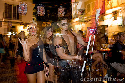 Party In Ibiza (Spain) Editorial Stock Image