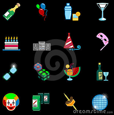 Party icon set series