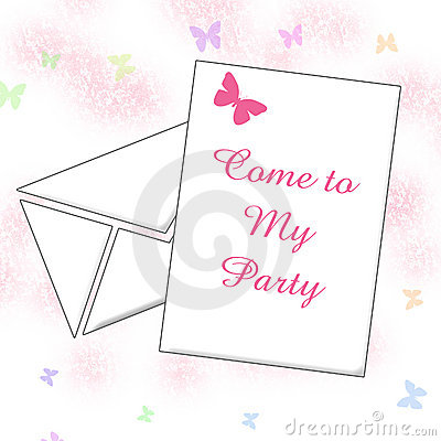 Party invitation art