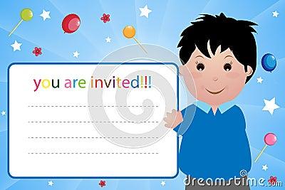 Party invitation card - boy