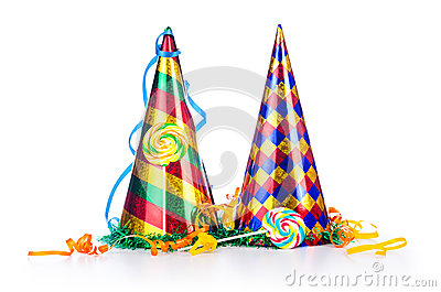 Party Items On White Royalty Free Stock Images - Image: 27314009