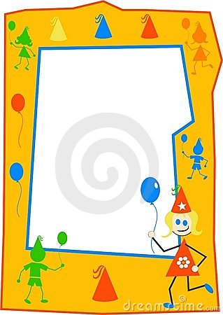 balloons birthday borders celebrations children clipart designs dtp frames