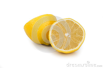 Party lemon on white background
