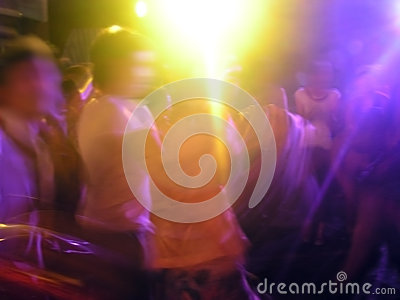 Party light in pub dance, clubbing