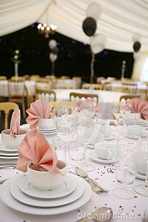 Free Party Marquee Interior Stock Photography - 5343482