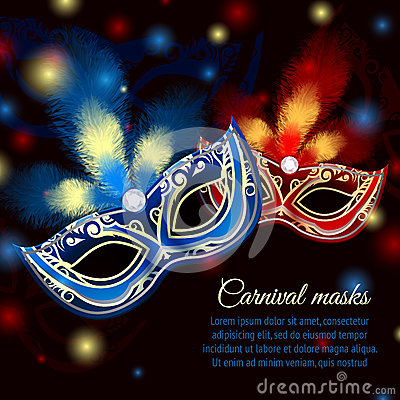 Free Party Mask Background Royalty Free Stock Photography - 40271087