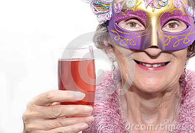 Party mask and drink