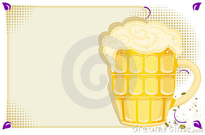 Party menu with cold beer