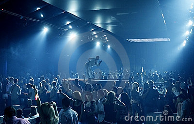 Party people in the nightclub Editorial Stock Image