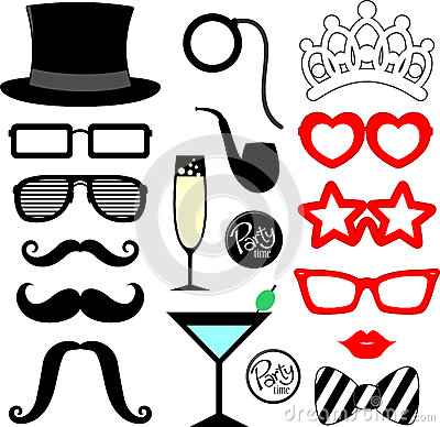 Free Party Props Royalty Free Stock Photography - 43612637