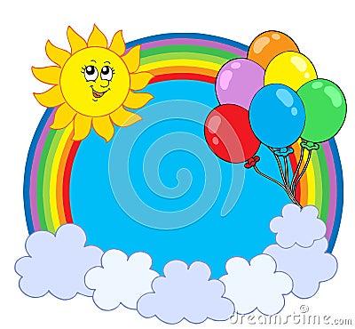Party rainbow circle