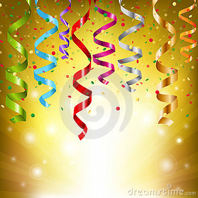 Free Party Streamers Royalty Free Stock Image - 22792476