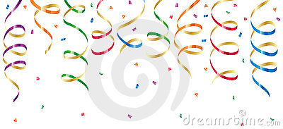 Party streamers and confetti