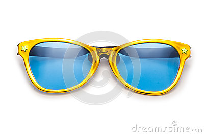 Party sunglasses isolated