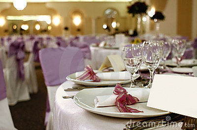 Party table arrangement