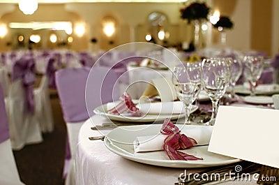 Party table arrangement