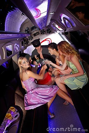 Free Party Time In Limousine Stock Images - 22953714