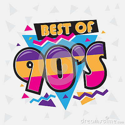 Free Party Time The 90`s Style Label. Vector Illustration. Royalty Free Stock Photography - 84844487