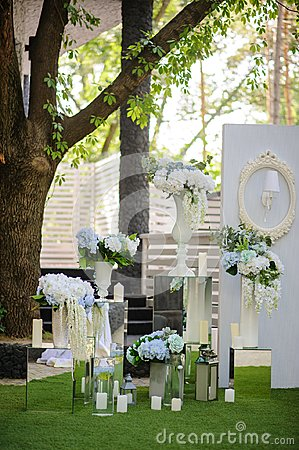 Free Party Wedding Decoration Outdoor. Stock Photography - 115634642