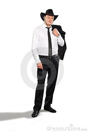 Partying businessman