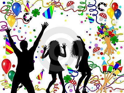 Partying people illustration