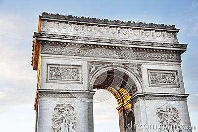 Paryż, Łuk De Triomphe