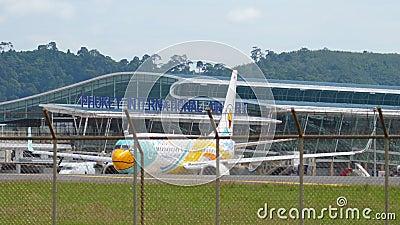 Pas startowy przed startem samolotu zbiory