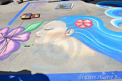 Pasadena Chalk Festival Editorial Image