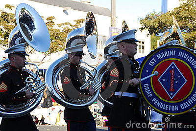 PASADENA JANUARY 1: United States Marine Corps Editorial Stock Photo