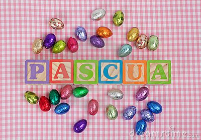 Pascua word in wooden block letters