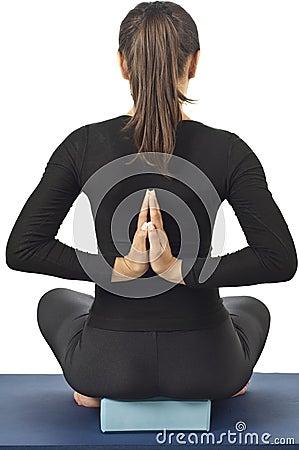 Free Pashchima Namaskarasana (Reverse Prayer Pose) Royalty Free Stock Images - 20821429