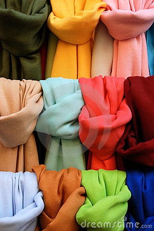 Free Pashminas Of Different Colours Royalty Free Stock Image - 6913346