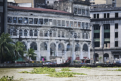 Pasig river architecture manila city philippines