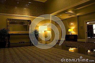 Pasillo de Alexis Hotel Fotografía editorial