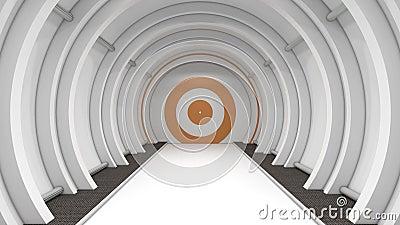 Pasillo futurista