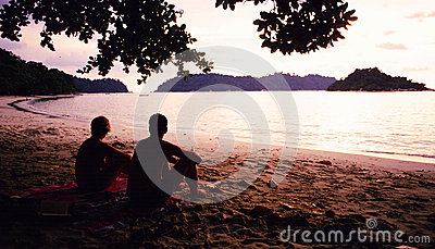 Pasir Bogak Beach Editorial Stock Photo