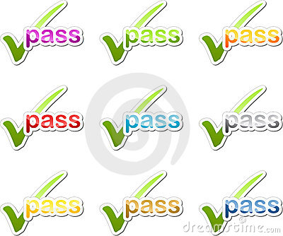 Pass checkmark motivation sticker