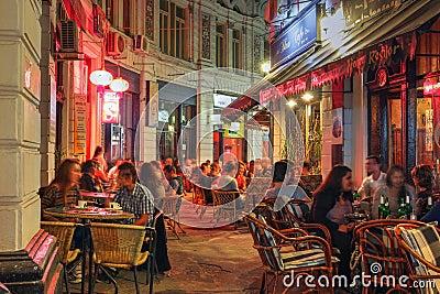 Passage in Bucharest, Romania Editorial Stock Photo