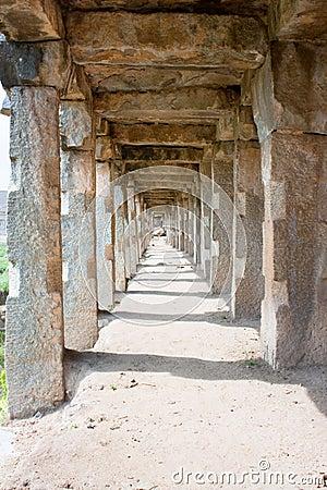 The passage of the famous  Krishna market