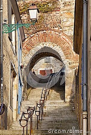Passagem das escadas