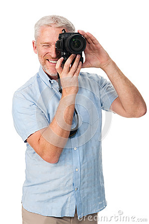 Passatempo do homem da câmera