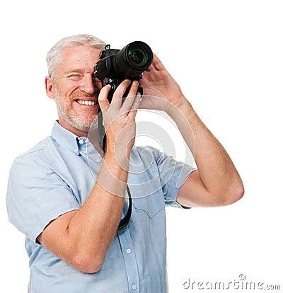 Passe-temps d homme d appareil-photo