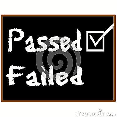 Passed exam grade